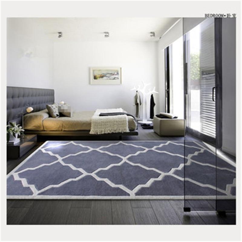 Mode moderne tapis sur le sol les tapis dans le salon acrylique tapis