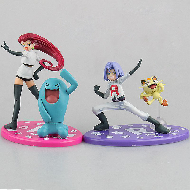 Monsters Kojiro & Nyarth painted 1/8 scale Jesse & Wobbuffet ACGN way Brinquedos PVC Action Figures Collectible Model Toys