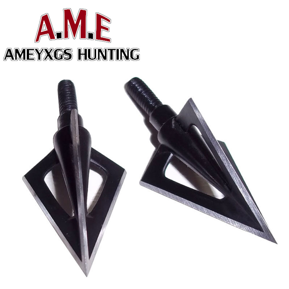 1 pcs Stainless Steel 3 Fixed Blades Archery Broadheads 100 Grain Arrow Head Hunting Point Special Arrows Shooting Adventure