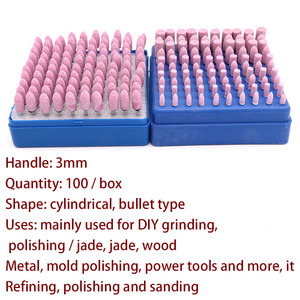 Image 3 - 100pcs Abrasive Stone Points Polishing Grinding Head Electric Drill Bit Wheel For Dremel Rotary Accessories Power Tools