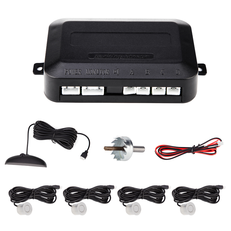 Image 3 - Car Auto Parktronic LED Parking Sensor With 4 Sensors Reverse Backup Car Parking Radar Monitor Detector System Backlight Display-in Parking Sensors from Automobiles & Motorcycles