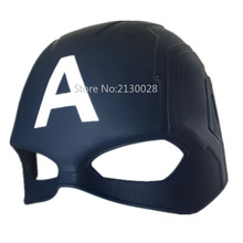 100pcs/lot Wholesale Civil War Half Face Avengers Captain US Masks Halloween PVC Captain America Mask цена 2017
