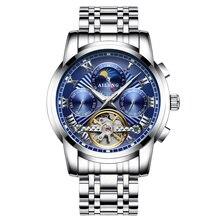 купить AILANG Skeleton Tourbillon Mechanical Watch Men Automatic Waterproof Wristwatch Clock Luminous Men Watch Big Dial Montre Homme по цене 3014.27 рублей