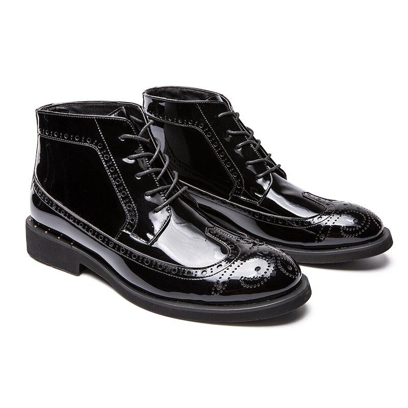 Botas Confortáveis De New ouro Dourado prata Ankle Inverno Outono Ao Couro Preto Homens Negócios Sapatos Vestido Casuais Ar Dos Boots Livre wqqFtIOC1x