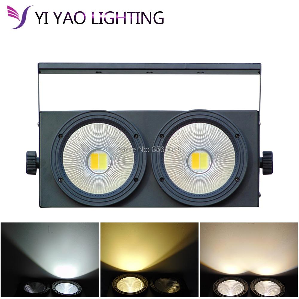 Aluminium Case 2x100W COB Led par light with cool warm white Stage Lighting