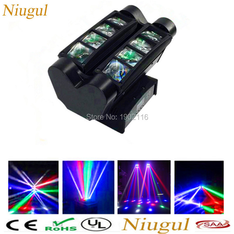 2018 New Moving Head/8x10W Led Spider Light/RGBW Led Party Light/Disco Rotate Lighting/dj Equipment/Professional DMX stage light 9 moving head laser spider light green color 50mw 9 triangle spider moving head light laser dj light disco club event