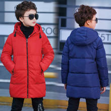 2019 new children's down jacket long boy thick children's clothing cotton clothes boy 4-15 years old big boy coat