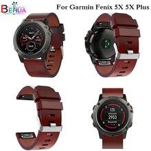 Leather Watch band For Garmin Fenix 5X 5X Plus for Fenix 3 3 HR Watch strap Easy fit Quick Release watchband Wristband Bracelet цена и фото