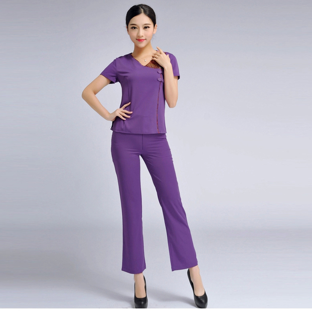 2015 Free shipping summer style 3 set hospital uniforms women solid medical uniform beauty nurses uniform with plus size