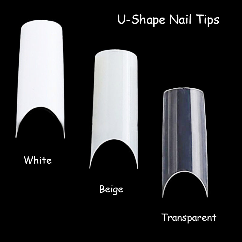 ShinBay Capsule Fake Nails French Manicure False Nails ballerina Nail Tips Almond Artificial Nails Long Stiletto Finger Nails