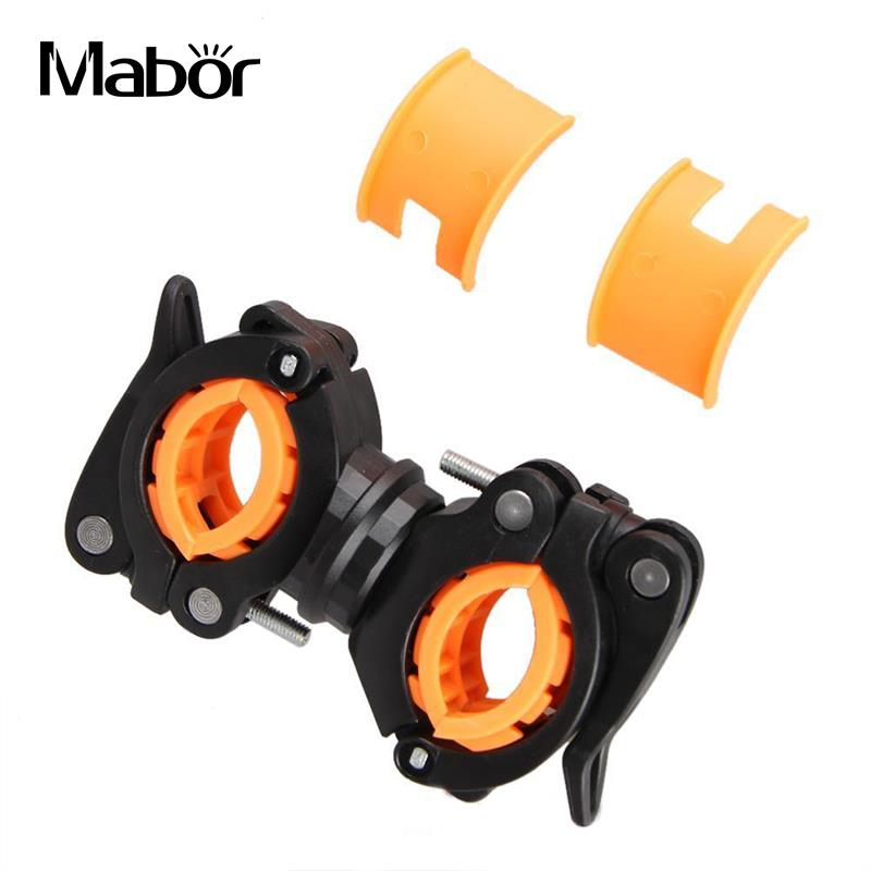 Bicycle Flashlight Front Light Holder Stand 360 Degree Rotation Bike Accessories