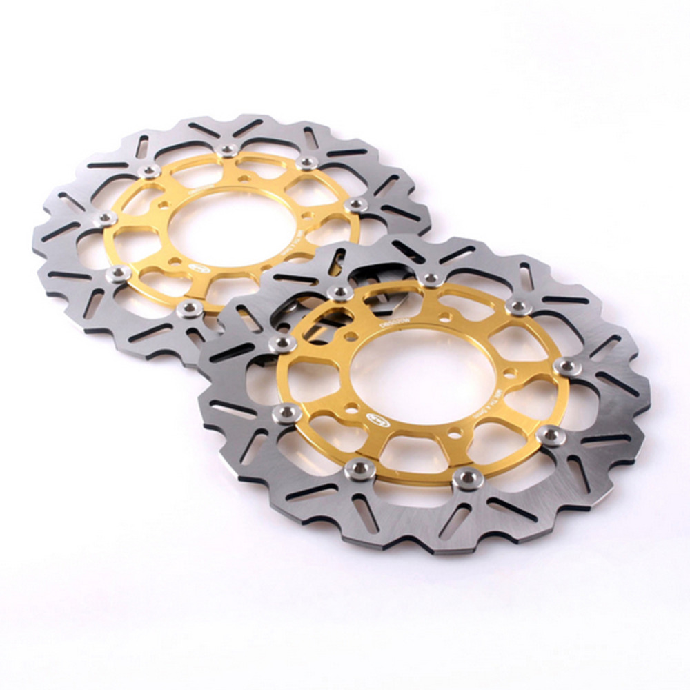 цены  310mm Front Brake Disc Rotors Set For SUZUKI 2006 2007 GSXR 600 750 K6 & 2005-2008 GSXR 1000 K5 K7 Stainless Steel + Aluminum