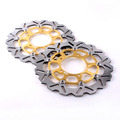 Arashi Front Brake Disc Rotors Set For SUZUKI 2006 2007 GSXR 600 750 K6 & 2005-2008 GSXR 1000 K5 K7  Gold