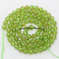 Wholesale 5mm Natural Peridot Round Beads 15 38cm 100 Natural Stone Guarantee Beads For DIY Jewelry
