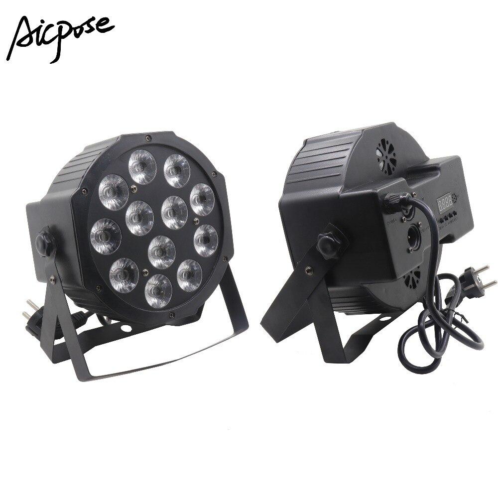 12x12W Led Par Lights 12pcs 12w Led Lamp Beads RGBW 4in1 Flat Par Led Dmx512 Disco Lights Professional Stage Dj Equipment