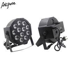 12×12 Вт led Par свет 12 шт. в упаковке, 12 W светодиодные точечные лампы RGBW 4in1 светодиодный плоский par led dmx512 Диско свет профессиональный студийное диджейское оборудование