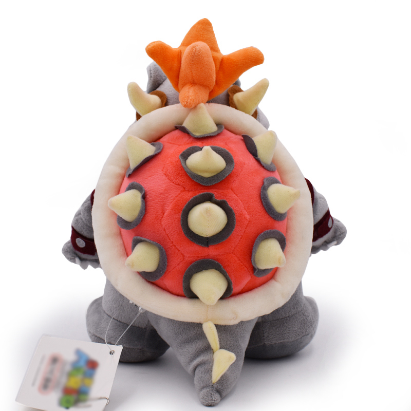 25-28 см Super Mario Bros 2 стиля Боузер Купа Kuba Дракон темно-Теплозаправщик Кукла Мягкие плюшевые куклы подарок для детей