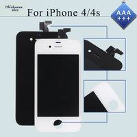 Mobymax 10PCS Lot AAA Touch Screen For IPhone 4S 4 LCD Pantalla Ecran Module Display Digitizer