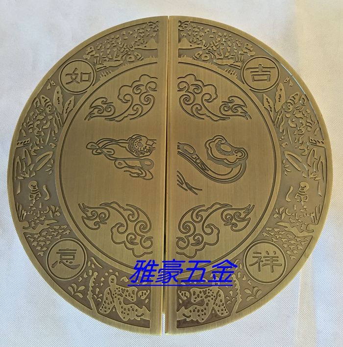 Modern Chinese semi circular bronze handle / Chinese antique doors handle / glass door handle european modern bronze handle chinese antique doors handle circular glass door handle