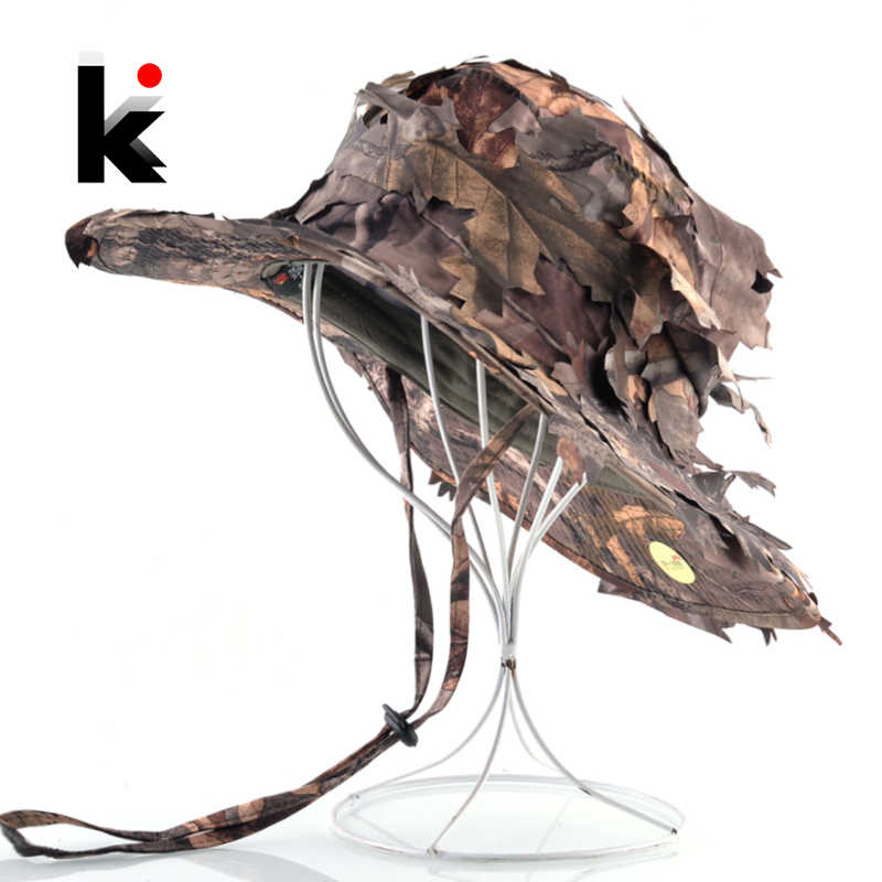 Summer Sun Caps Military Camouflage Training Jungle Snip Hats Men Hunting Bucket Hat Outdoor Wide Brim Quick-Dry Tactical Cap