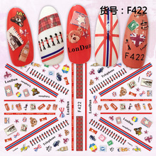 3d nail sticker Newest F -522 decals bear and deer design DIY decorations back glue