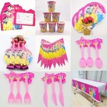 74pcs Princess Happy Birthday Party Decoration Set Babyfavor Festival Supplies