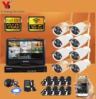 10 1 Inch Screen 8CH WIFI NVR Wireless Security Camera System With 8 Outdoor 1 0Megapixel
