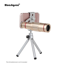 On sale Universal 18x zoom lens Magnification Optical Camera Telephoto Lens Telescope With mini Tripod For Iphone Smartphone Gold