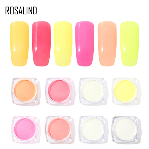 ROSALIND Nails Glitter Powder Fluorescent powder polish for Nails Glitter Decorations Nail Manicure for Nail Gel Polish Lahore