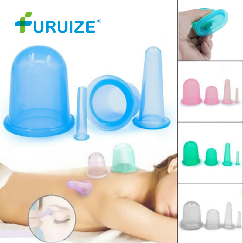Vacuum Silicone cupping Health Family Body Massage cupping Anti Cellulite vacuum cupping cup Neck Face Back Arm Relaxation cup