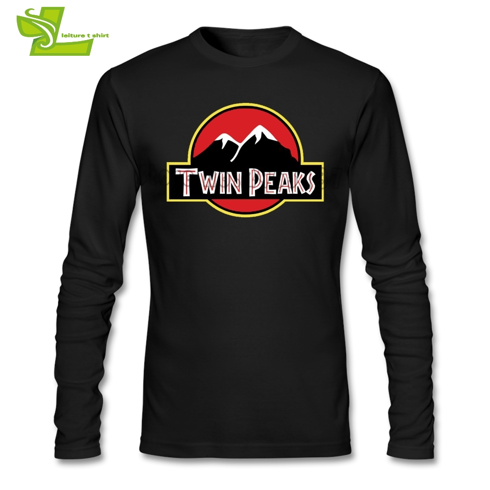 Twin Peaks Male T Shirt Leisure Classic Loose Tops Boy Long Sleeve 100% Cotton Tshirts Guys New Arrival Simple Clothing