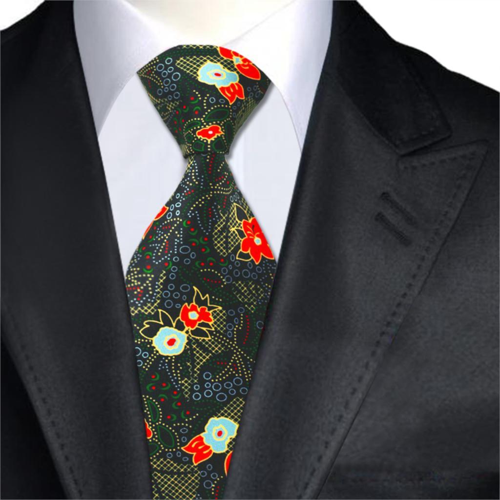 A-1237 Silk Druck Herren Krawatten Vintage Floral Gravatas Krawatten Für Herren Hochzeit Geschäfts Partei Vestidos Und Kleid Auf Verkauf