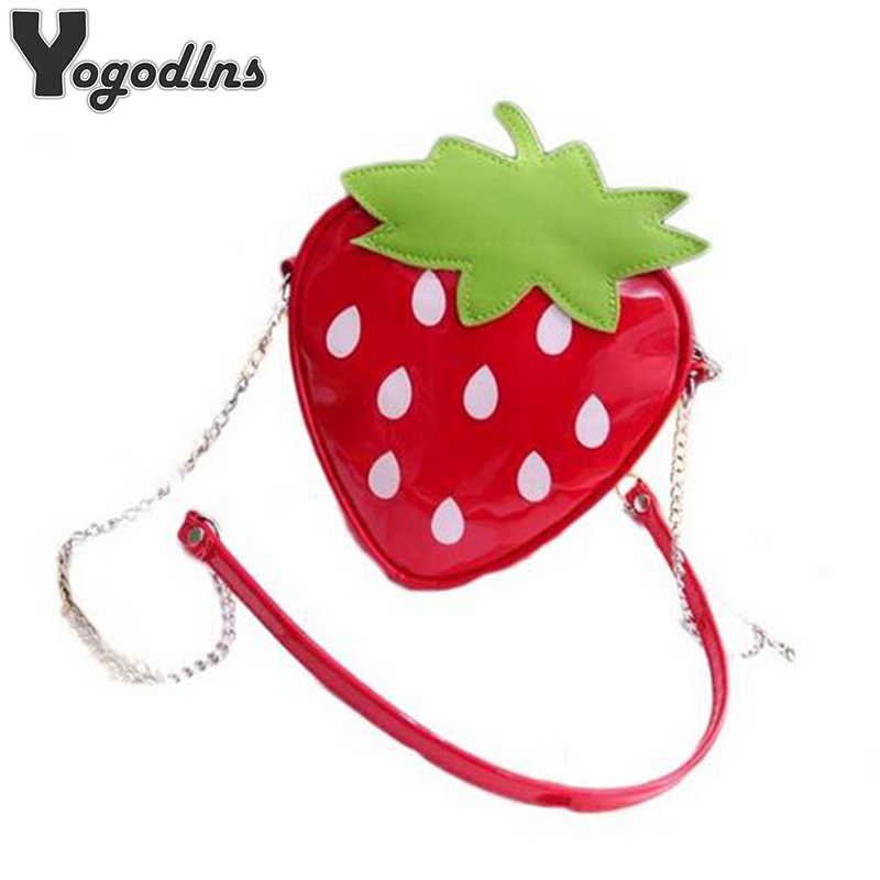 94a9d10bf3444 Detail Feedback Questions about 2019 New Fashion Shoulder Mini Bags for  Women Cute Ladies Strawberry Pattern Crossbody Female Messenger Bags  Satchel Purse ...