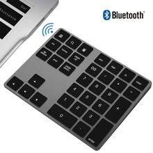 AVATTO алюминиевый сплав 34 клавиши Bluetooth беспроводная цифровая клавиатура, цифровая клавиатура для Windows, IOS, Mac OS, Android, планшет, ноутбук ПК