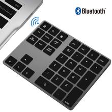 AVATTO Aluminum Alloy 34 keys Bluetooth Wireless Numeric Keypad,Digital Keyboard for Windows,IOS,Mac OS,Android Tablet laptop PC