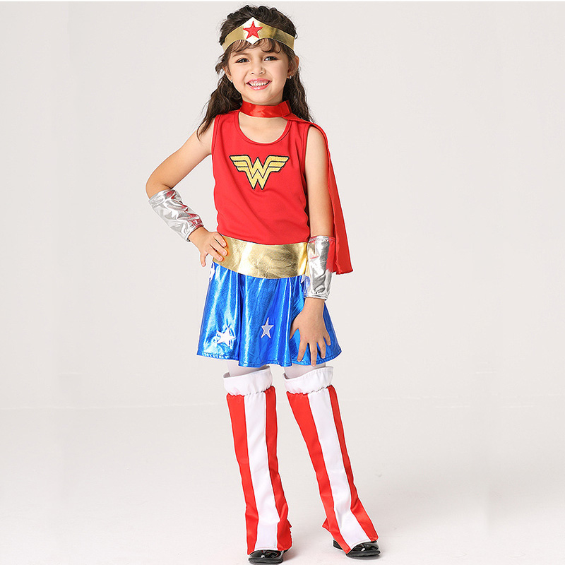 Girls Wonder Woman Costume Children Supergirl Fancy Dress DC Superhero  Cosplay Princess Diana Outfit Kids Halloween Costume 2018-in Girls Costumes  from ... 503fd945c1d3