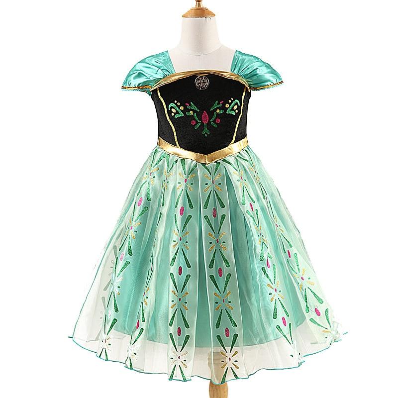 HTB1AlUBmDTI8KJjSsphq6AFppXaU 2019 Elsa Dresses For Girls Princess Anna Elsa Costumes Party Cosplay Elza Vestidos Hair Accessory Set Children Girls Clothing