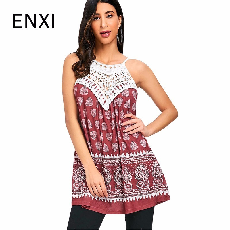ENXI Pregnant Women Vest Print Maternity Clothing Mothers Breastfeeding Clothes Modal Nursing Tank Tops Casual Pregnancy Camis
