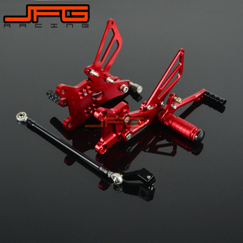 Motorcycle CNC Adjustable Foot Pegs Pedals Rest Rearset Footpegs For HONDA CBR600 F4I 2001-2006 2001 2002 2003 2004 2005 2006