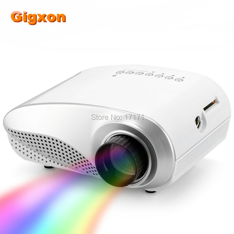 GIGXON H600 Portable Mini Projector Home Theater 480*320P USB/VGA/HDMI Input, Build-in Speaker LED LCD Digital Projector