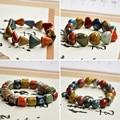Heart Beaded Bracelets Ceramic Beads Triangle Square Bone Charm Chain Cuff Bangles Wristband Women Men Fashion Jewelry