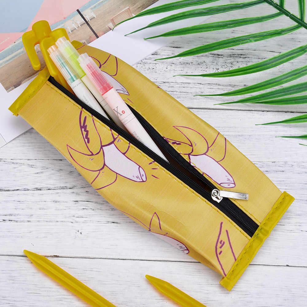 Dropshipping1PC estuches de lápices de fruta Linda bolsa de lápices niñas papelería oficina Mini cartera bolsa