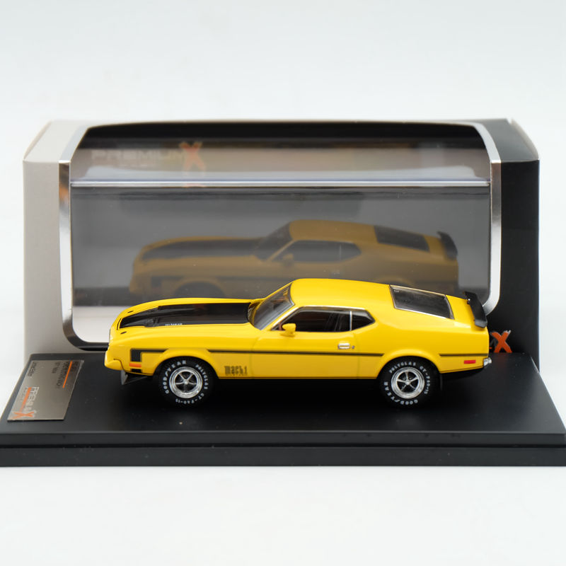 IXO Premium X 1:43 Ford Mustang Mach 1 1971 Yellow PRD397J Limited Edition Collection Resin Auto Models ixo premium x 1 43 stutz blackhawk coupe 1971 red prd002 limited edition collection resin auto models