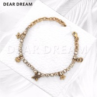 Jewelry & Accessories Fashion Vintage Five Point Stars Letters Bees full Claw Chain Bracelet Statement Jewelry