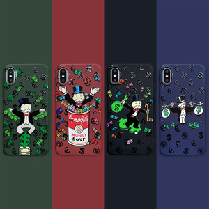 Luxury Cartoon Dollar Monopoly Soft silicon Back Cover cases For iPhone 11 11 pro max X XR Xs max 6 7 8 plus phone coque fundas(China)