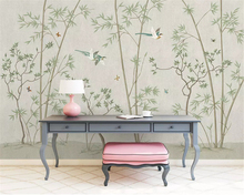 beibehang Custom fashion personality wall paper simple new Chinese classic bamboo ink landscape papel de parede 3d wallpaper