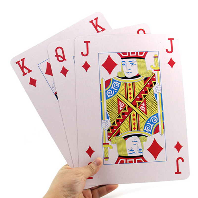 1 Deck 3 Size 2/4/9 Times Jumbo Giant Pokers Playing Cards Deck of Big Playing Cards Fun Full Poker Magic Trick Game Set цена