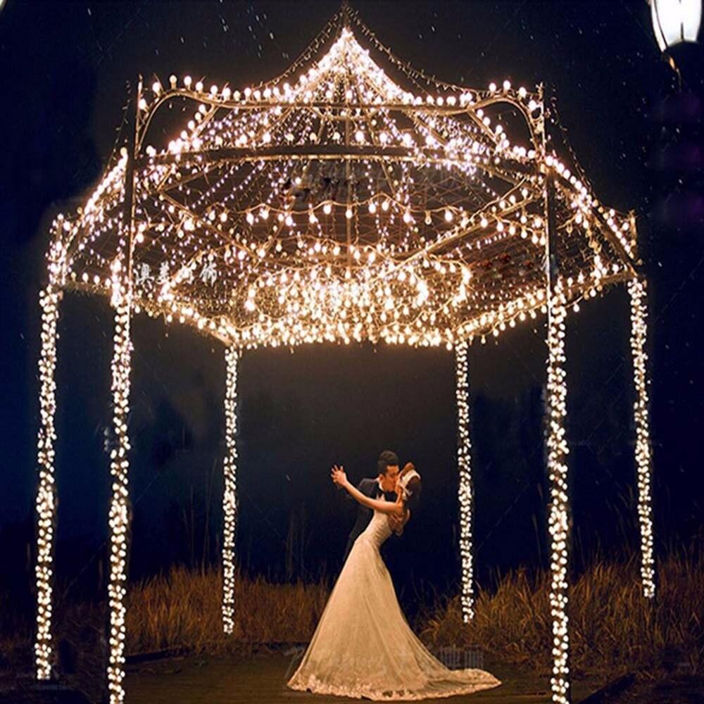 Luces de cadena led de 100 M con bola rgb AC220V decoración de vacaciones lámpara Festival Navidad luces de Navidad iluminación exterior - 2