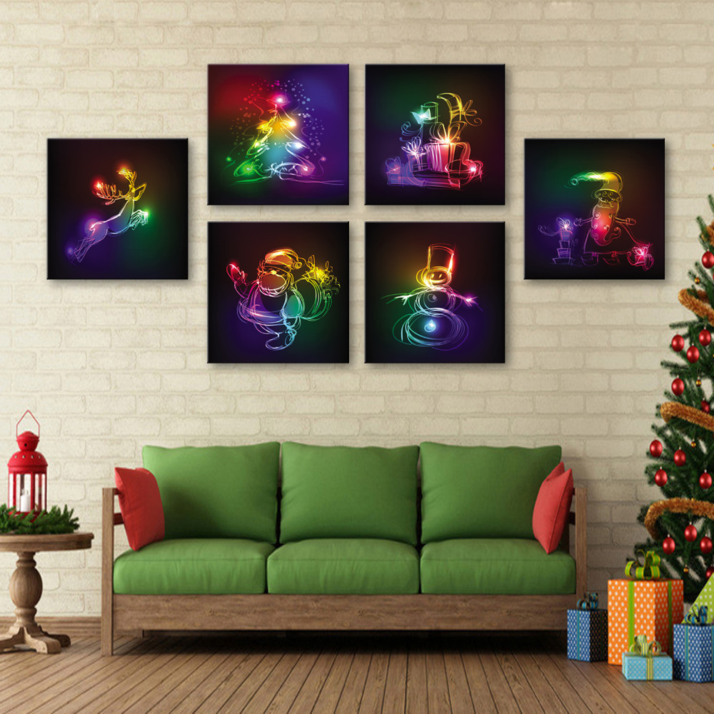 online get cheap shining posters com alibaba group e home oil painting shining christmas series paint