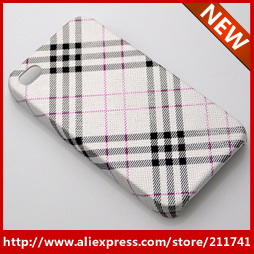 FREE SHIPPING 1 PCS Retail wholesale 2013 Silver gray Lattice Luxury designer  for iphone 4s cover case